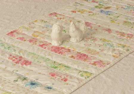 Vintage sheet table runner2