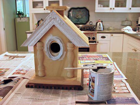 Bird house before 1